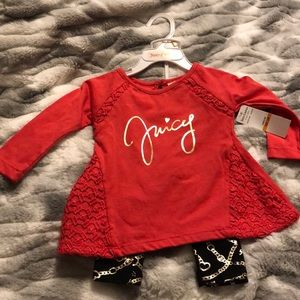 Juicy Couture 12M baby girl outfit